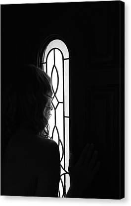 Anticipation Bw Canvas Print by Elizabeth Sullivan