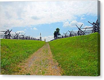 Canvas Print featuring the photograph Antietam Battle Of Bloody Lane by Cindy Manero