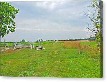 Canvas Print featuring the photograph Antietam Battle Of The Cornfield by Cindy Manero