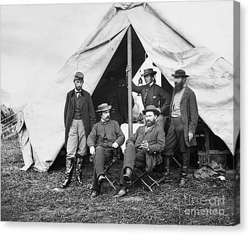 George Littlefield Canvas Print - Antietam: Officials, 1862 by Granger