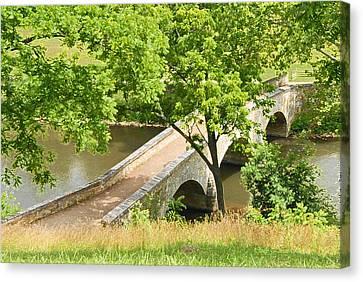 Canvas Print featuring the photograph Antietam's Burnside Bridge by Cindy Manero