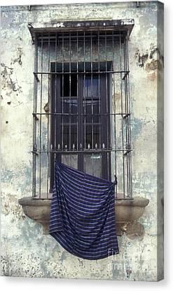 Canvas Print featuring the photograph Antigua Window Guatemala by John  Mitchell