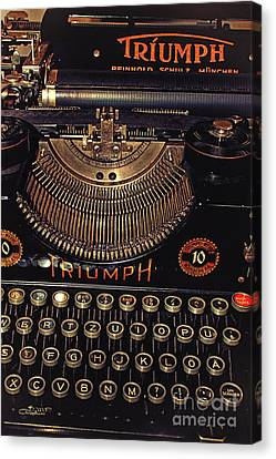 Typewriter Keys Canvas Print - Antiquated Typewriter by Jutta Maria Pusl