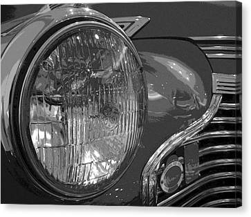 Antique Car Close-up 002 Canvas Print by Dorin Adrian Berbier