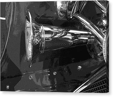 Antique Car Close-up 005 Canvas Print by Dorin Adrian Berbier