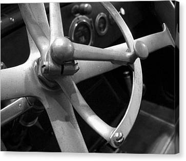 Antique Car Close-up 008 Canvas Print by Dorin Adrian Berbier