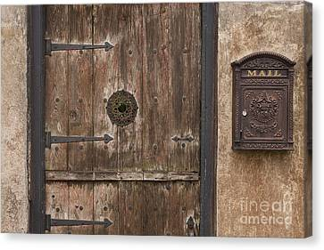 Antique Dutch Door And Mailbox Canvas Print by Will & Deni McIntyre