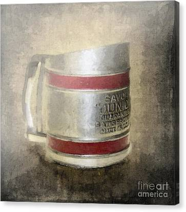 Antique Flour Sifter Canvas Print by Betty LaRue