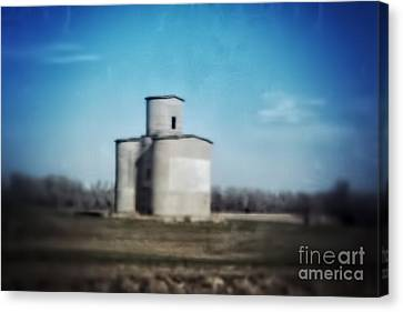 Antique Grain Elevator Canvas Print by Jeremy Linot