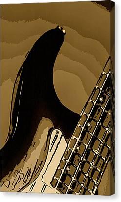 Antique Guitar Canvas Print by M K  Miller