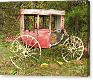 Canvas Print featuring the photograph Old Horse Drawn Carriage by Sherman Perry