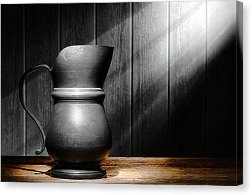 Antique Pewter Pitcher Canvas Print by Olivier Le Queinec