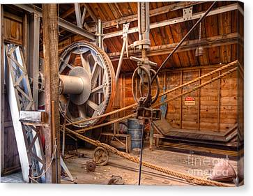 Canvas Print featuring the photograph Antique Power Station by Lawrence Burry