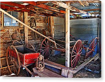 Antique Shed Canvas Print by Melany Sarafis