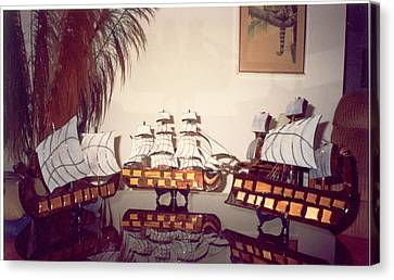 Antique Ships Canvas Print by Val Oconnor