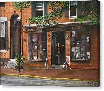 Antique Shop Greenwich Vlg Canvas Print by Stuart B Yaeger