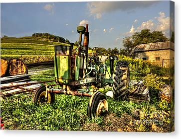 Antique Tractor Canvas Print by Dan Friend