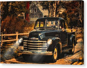 Antique Truckin Canvas Print by Gina Cormier
