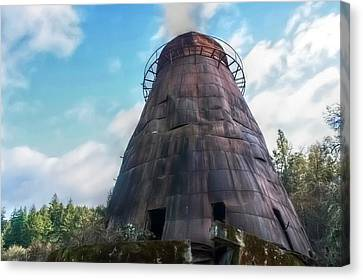 Antique Wigwam Burner Canvas Print by Tyra  OBryant