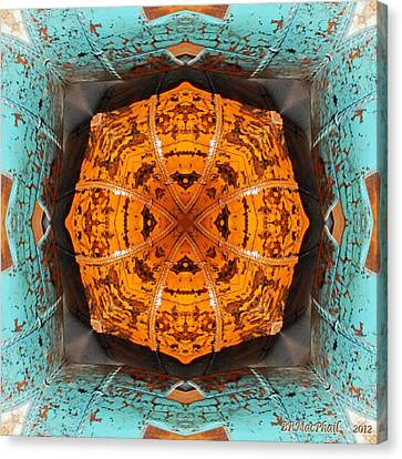 Canvas Print featuring the photograph Antique Wood Baskets Kaleidoscope by Barbara MacPhail