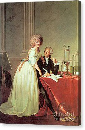 Antoine-laurent Lavoisier And His Wife Canvas Print by Science Source