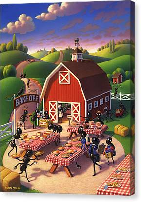 Ant Canvas Print - Ants At The Bake Off by Robin Moline