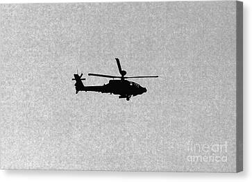Apache Attack Helicopter Canvas Print by Darren Burroughs