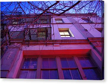 Canvas Print featuring the photograph Apartment Building by Marilyn Wilson