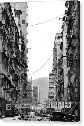 Apartment Buildings Canvas Print by All rights reserved to C. K. Chan