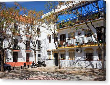 Apartment Houses In Marbella Canvas Print by Artur Bogacki