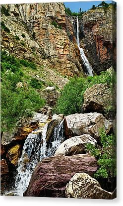 Apikuni Falls Canvas Print by Greg Norrell