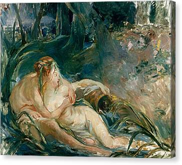 Apollo Appearing To Latone Canvas Print by Berthe Morisot