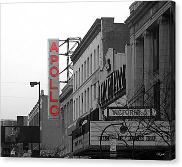 Apollo Theater Canvas Print - Apollo Theater In Harlem New York No.1 by Ms Judi