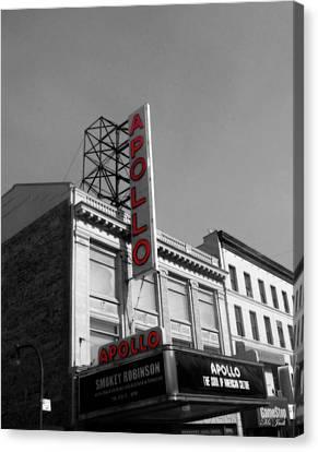 Apollo Theater Canvas Print - Apollo Theater In Harlem New York No.2 by Ms Judi