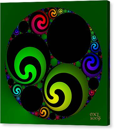 Canvas Print featuring the digital art Apollonian Gasket Variant Iv  by Manny Lorenzo