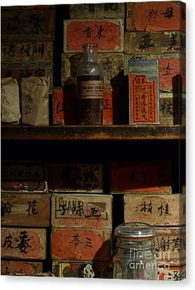 Canvas Print featuring the photograph Apothecary by Newel Hunter
