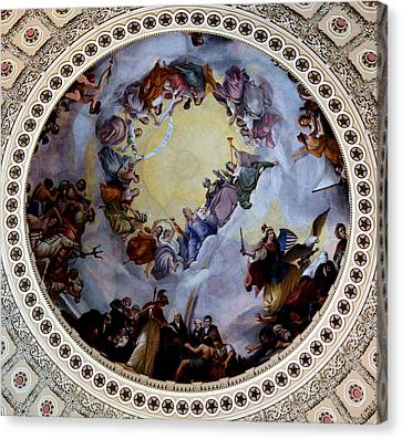 Canvas Print featuring the photograph Apothesis Of Washington by Pravine Chester
