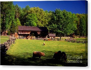 Tn Barn Canvas Print - Appalachian Barn Yard by Paul W Faust -  Impressions of Light