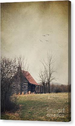 Log Cabin Canvas Print - Appalachian Cabin by Stephanie Frey
