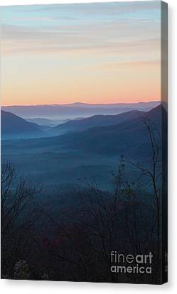 Canvas Print featuring the photograph Appalachian Sunrise by Laurinda Bowling