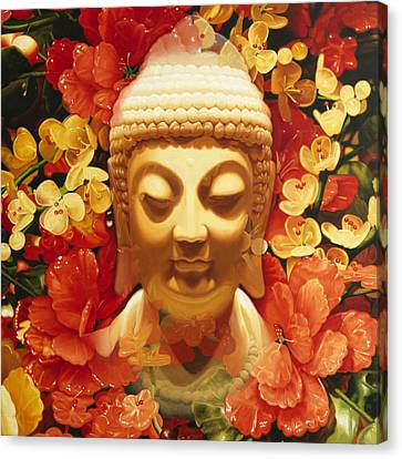 Appearing Buddha Canvas Print