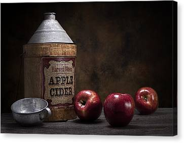 Apple Cider Still Life Canvas Print by Tom Mc Nemar