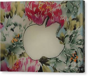 Canvas Print featuring the painting Apple by Dongling Sun