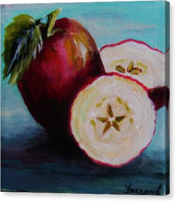 Apple Magic Canvas Print by Karen  Ferrand Carroll