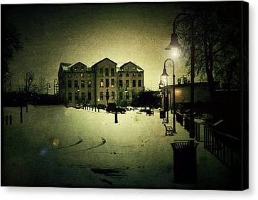 Appleton Waterfront Canvas Print by Joel Witmeyer