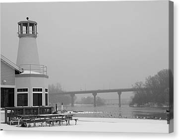 Appleton Yacht Club Canvas Print by Joel Witmeyer