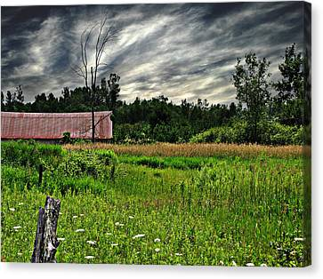Approaching Storm  Canvas Print by Ms Judi