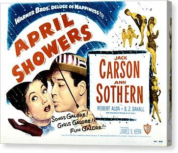 April Showers, Ann Sothern, Jack Canvas Print by Everett