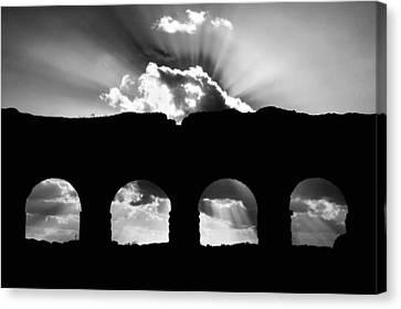 Aqua Claudia Aqueduct Canvas Print by Fabrizio Troiani