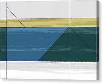 Aqua Green Triangles Canvas Print by Naxart Studio